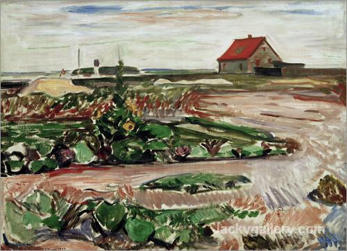 Landscape near Travemunde by Edvard Munch paintings reproduction