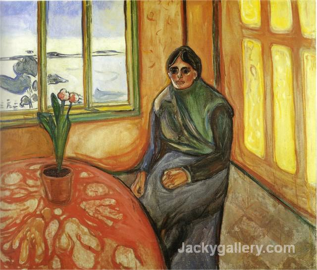 Melancholy, Laura by Edvard Munch paintings reproduction