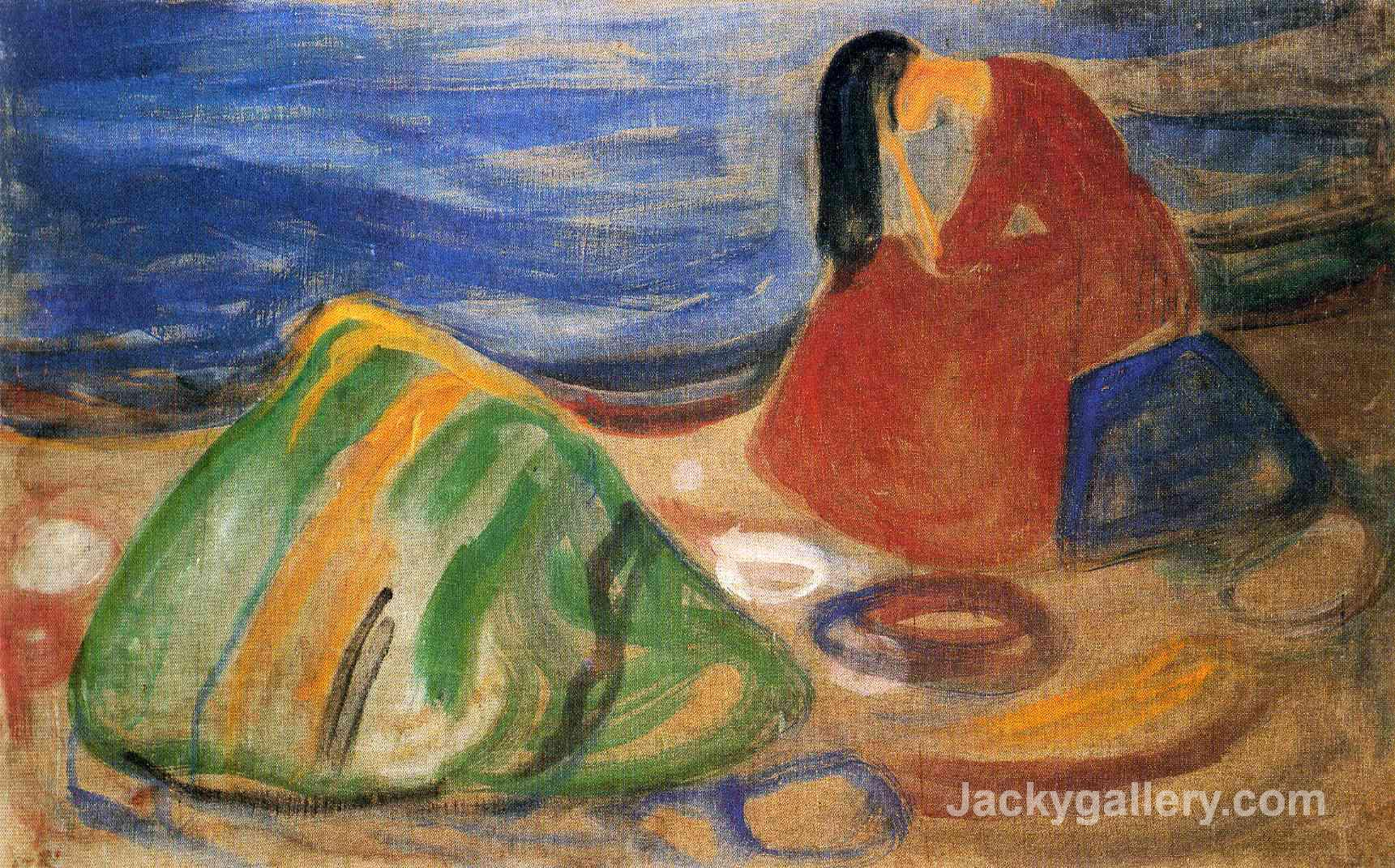 Melancholy by Edvard Munch paintings reproduction