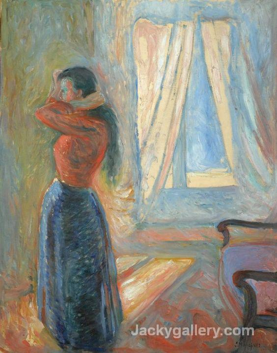 Mujer mirandose al espejo by Edvard Munch paintings reproduction