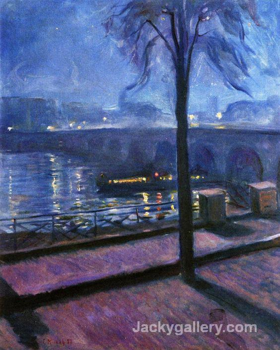 Night in Saint-Cloud by Edvard Munch paintings reproduction