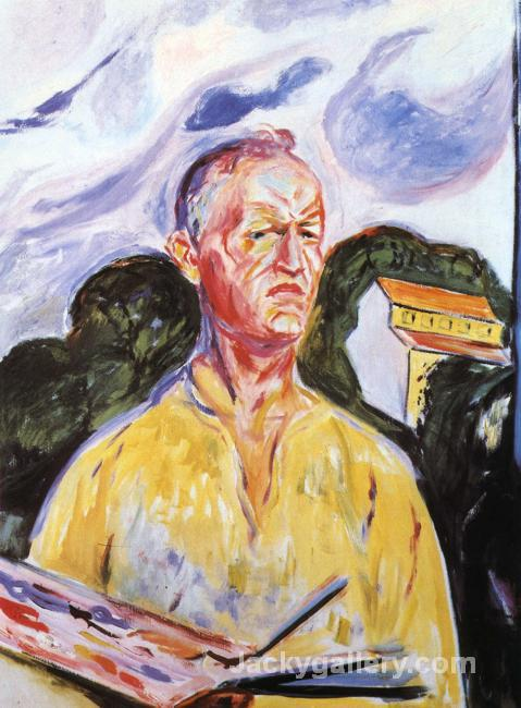 Self-Portrait at Ekely by Edvard Munch paintings reproduction