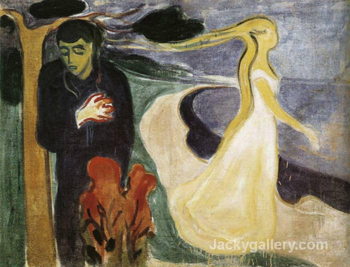 Separation, by Edvard Munch paintings reproduction