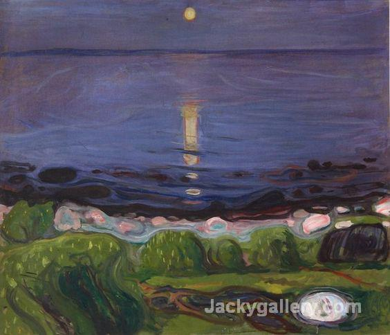 Sommernacht am Strand by Edvard Munch paintings reproduction