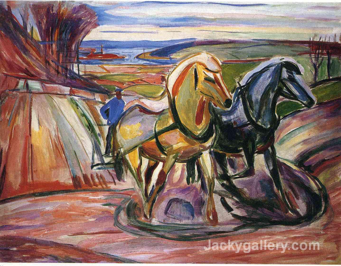 Spring Plowing by Edvard Munch paintings reproduction