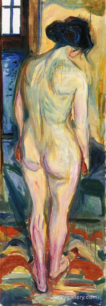 Standing Nude, back by Edvard Munch paintings reproduction