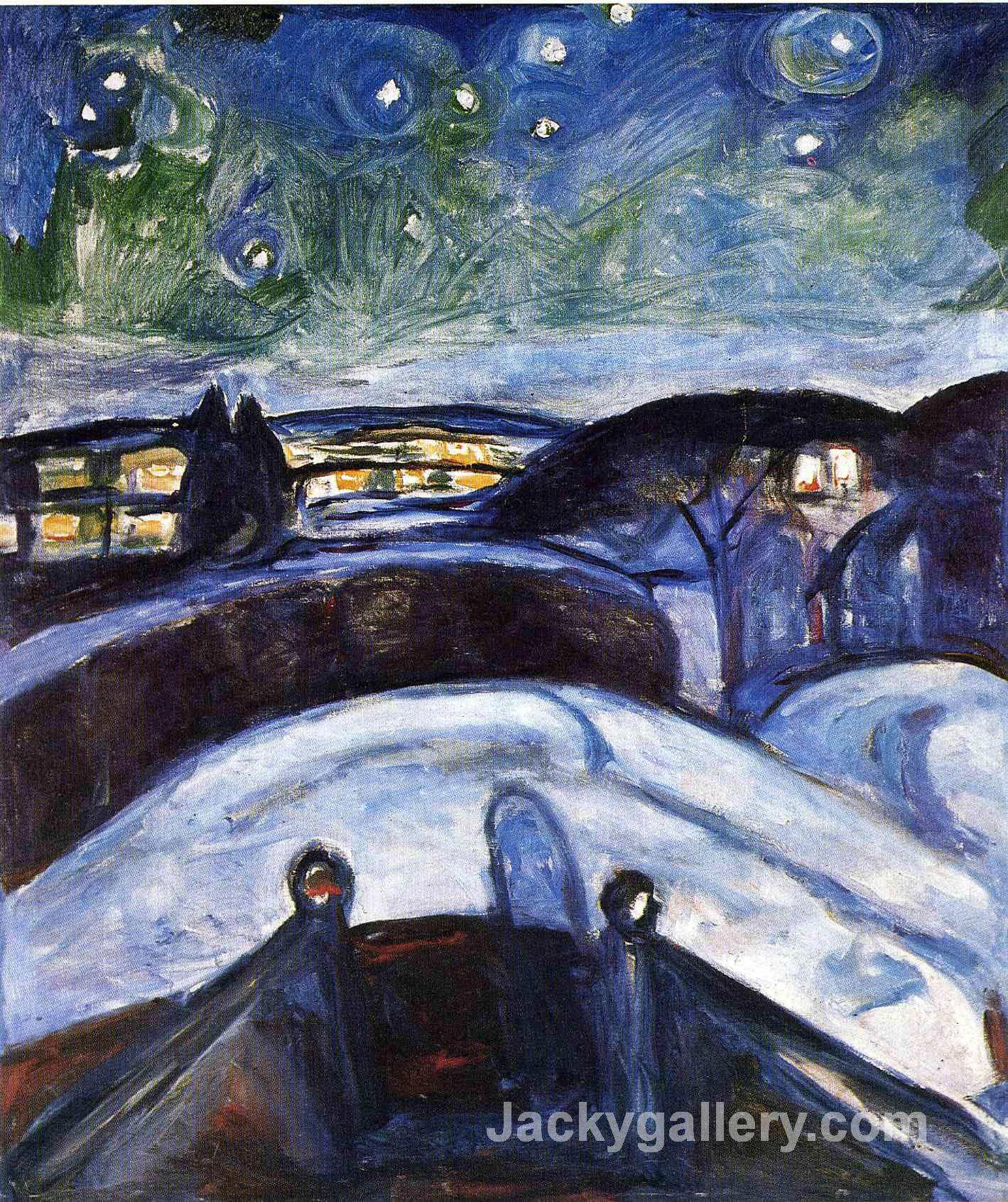 Starry Night by Edvard Munch paintings reproduction