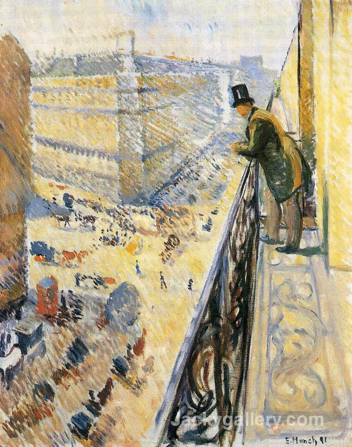 Street Lafayette by Edvard Munch paintings reproduction