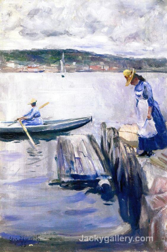 Summer Day on the Pier by Edvard Munch paintings reproduction