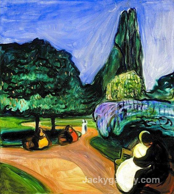 Summer Night in Studenterlunden by Edvard Munch paintings reproduction