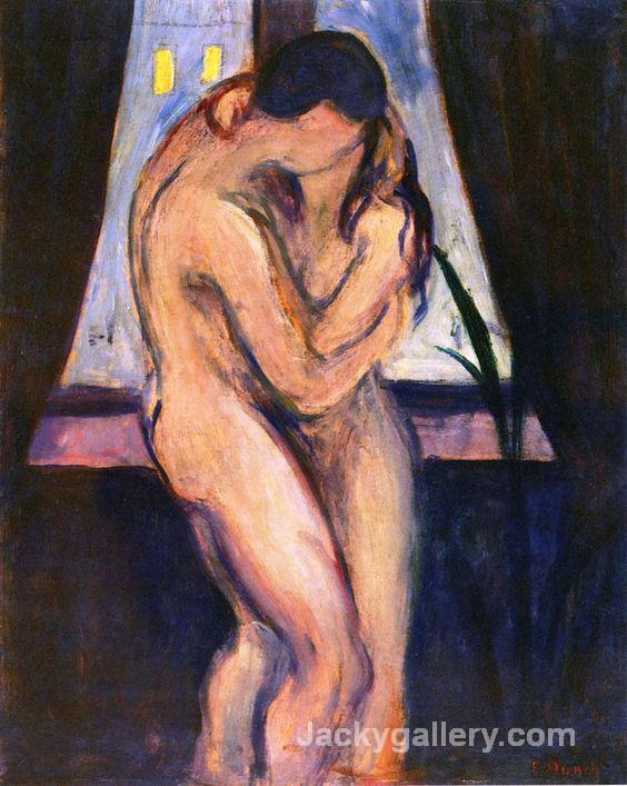 The Kiss by Edvard Munch paintings reproduction