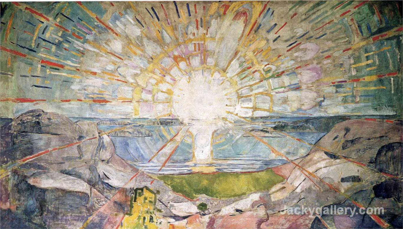 The Sun- by Edvard Munch paintings reproduction