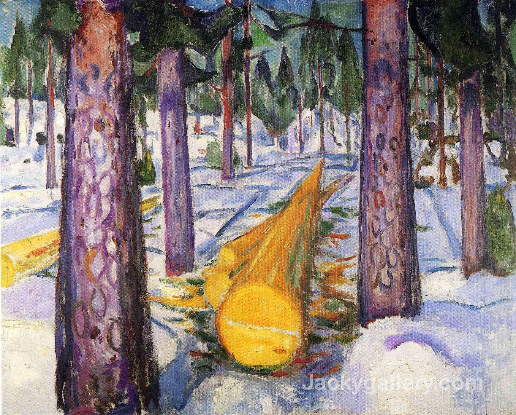 The yellow log by Edvard Munch paintings reproduction