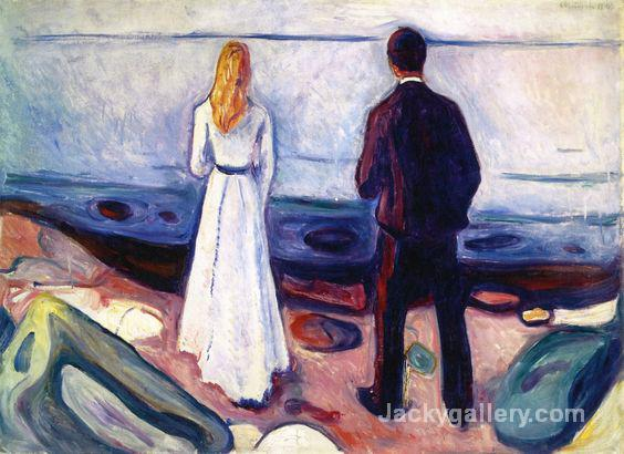 Two Human Beings (The Lonely Ones) by Edvard Munch paintings reproduction