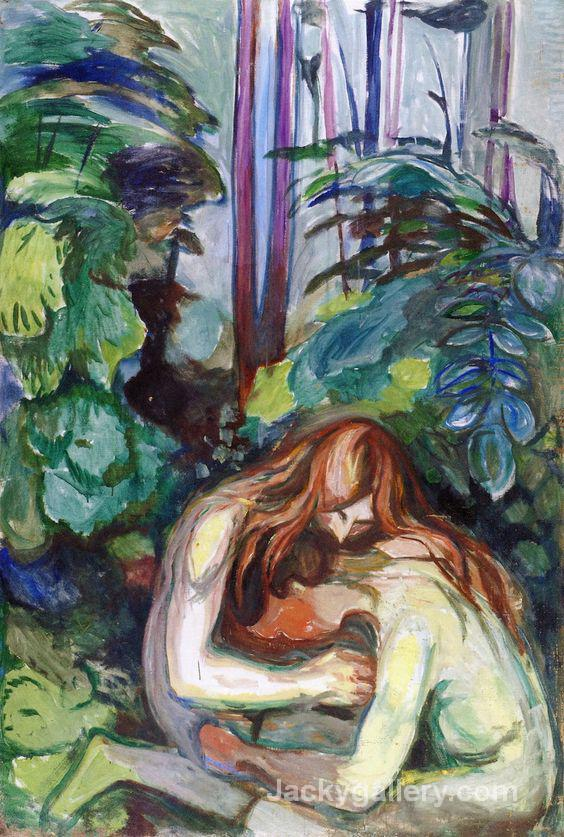 Vampire in the Forest by Edvard Munch paintings reproduction