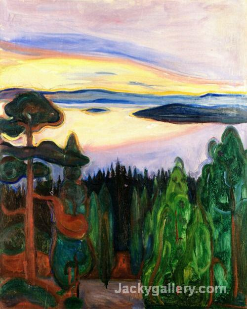 View from Nordstrand by Edvard Munch paintings reproduction