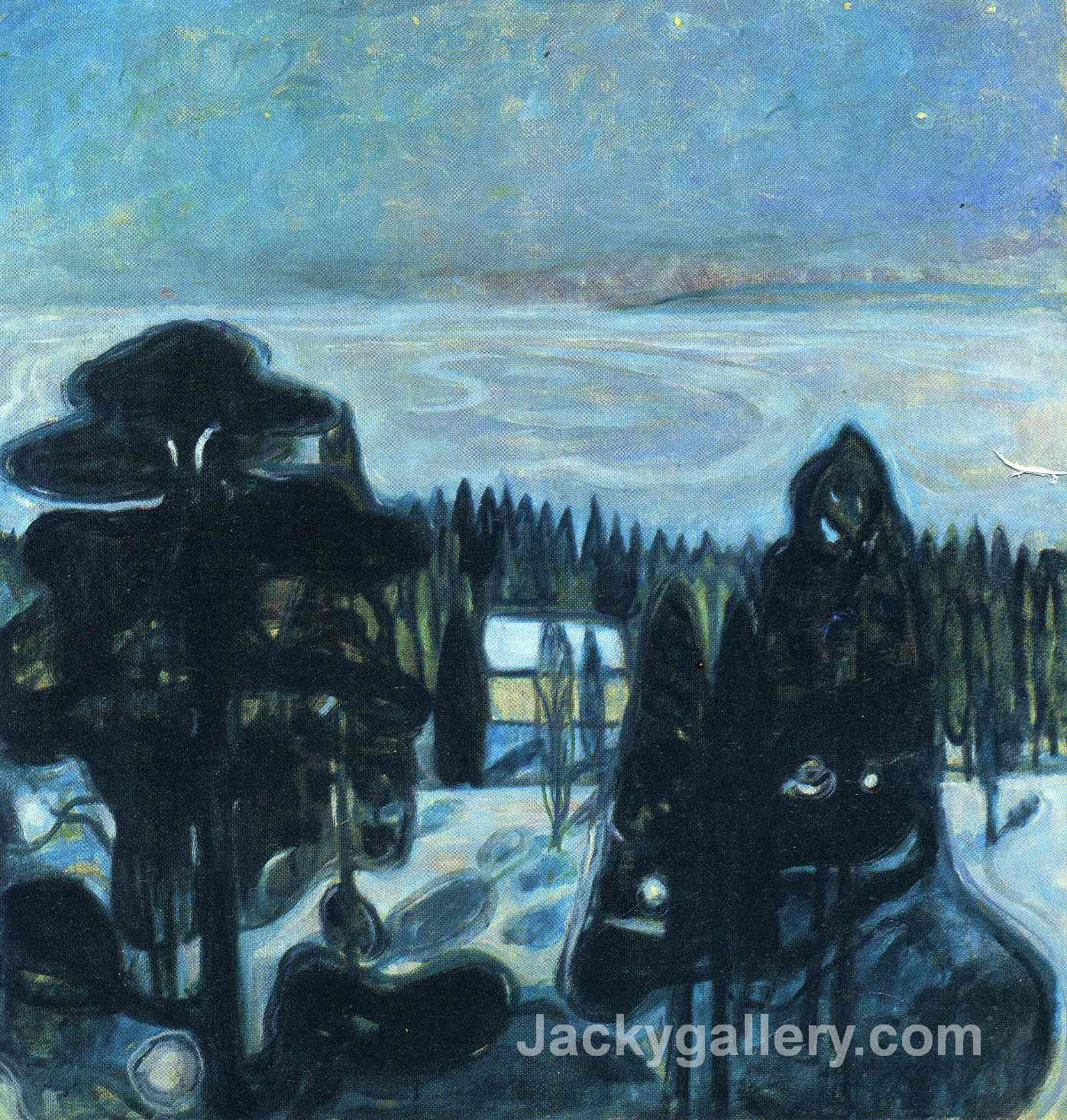 White Night by Edvard Munch paintings reproduction