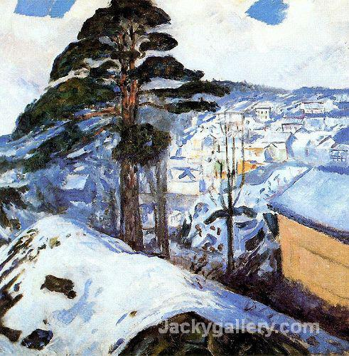 Winter at Kragero by Edvard Munch paintings reproduction