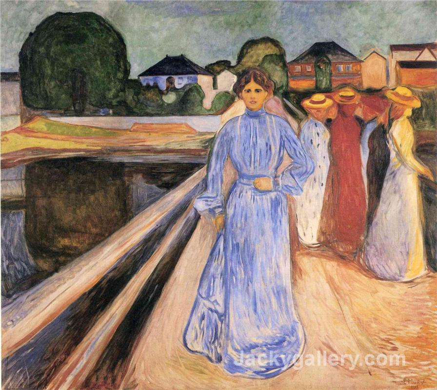 Women on the Bridge by Edvard Munch paintings reproduction