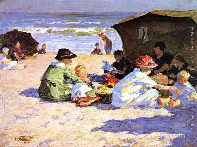A Day at the Seashore by Edward Henry Potthast paintings reproduction