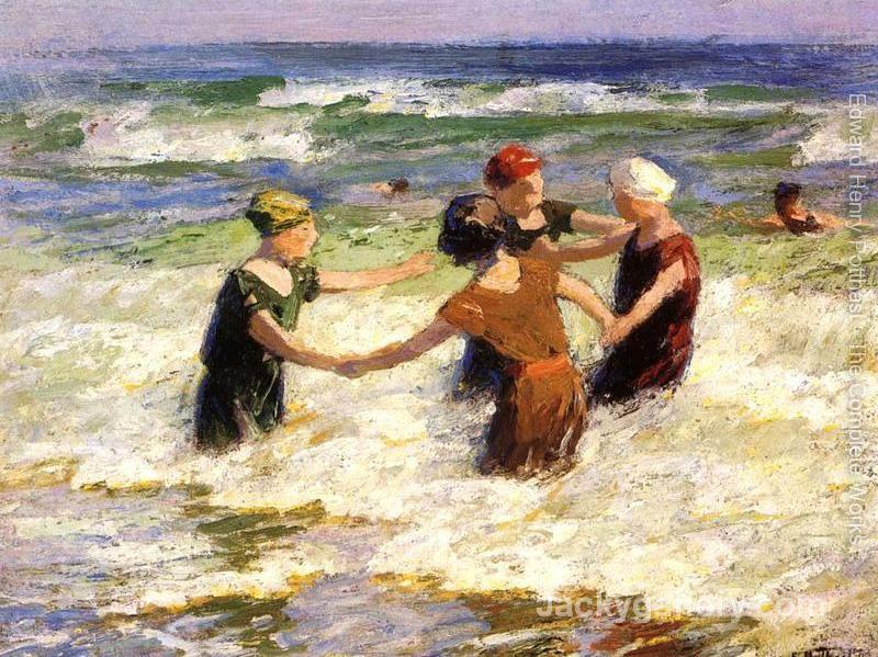 A Happy Group by Edward Henry Potthast paintings reproduction