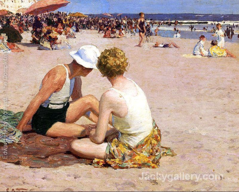 A Summer Vacation by Edward Henry Potthast paintings reproduction