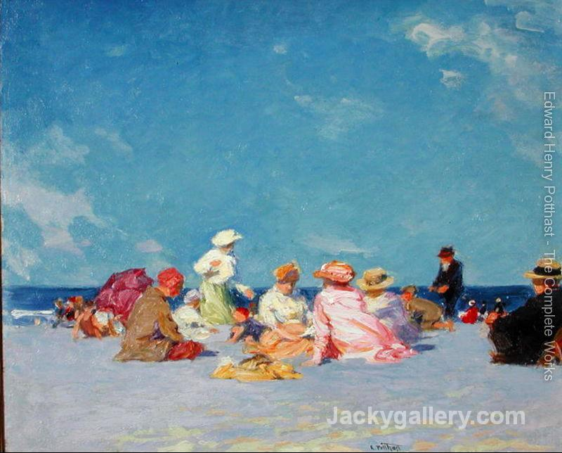 Afternoon Fun, c.-27 by Edward Henry Potthast paintings reproduction