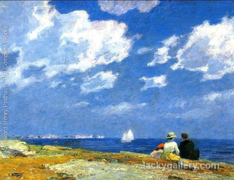 Along the Shore by Edward Henry Potthast paintings reproduction