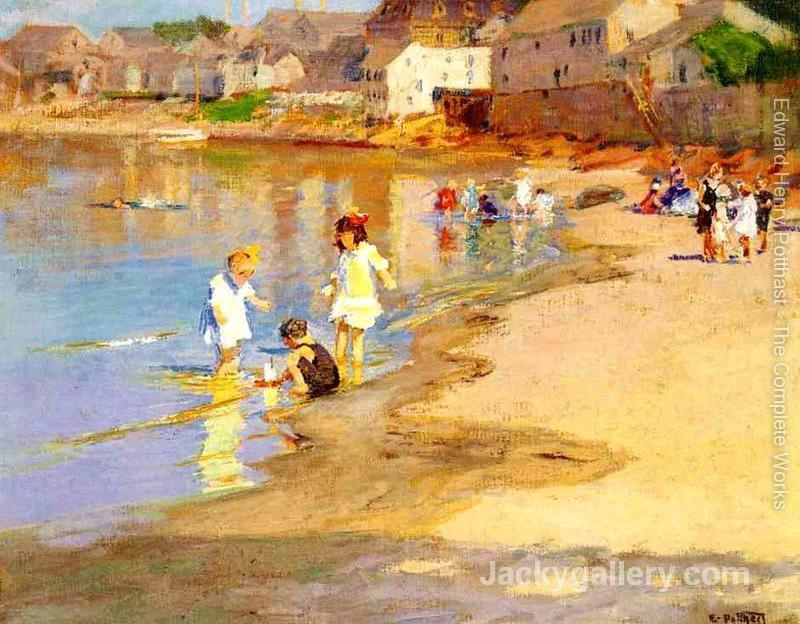 At the Beach I by Edward Henry Potthast paintings reproduction