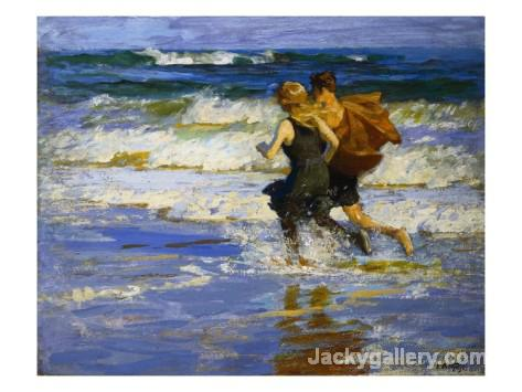 At the Beach by Edward Henry Potthast paintings reproduction