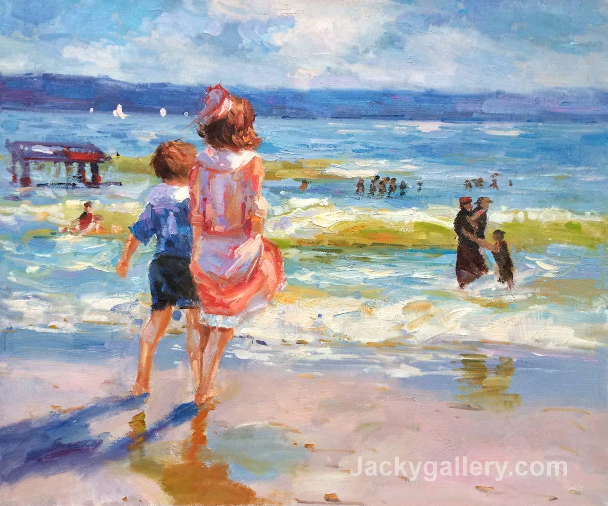 At the Seashore ART by Edward Henry Potthast paintings reproduction