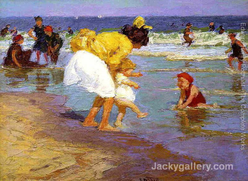 At the Seaside II by Edward Henry Potthast paintings reproduction