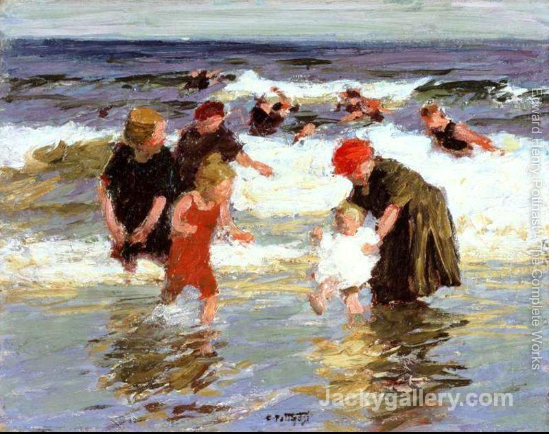 Bathers, c. by Edward Henry Potthast paintings reproduction