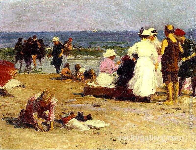 Bathers in the Surf by Edward Henry Potthast paintings reproduction