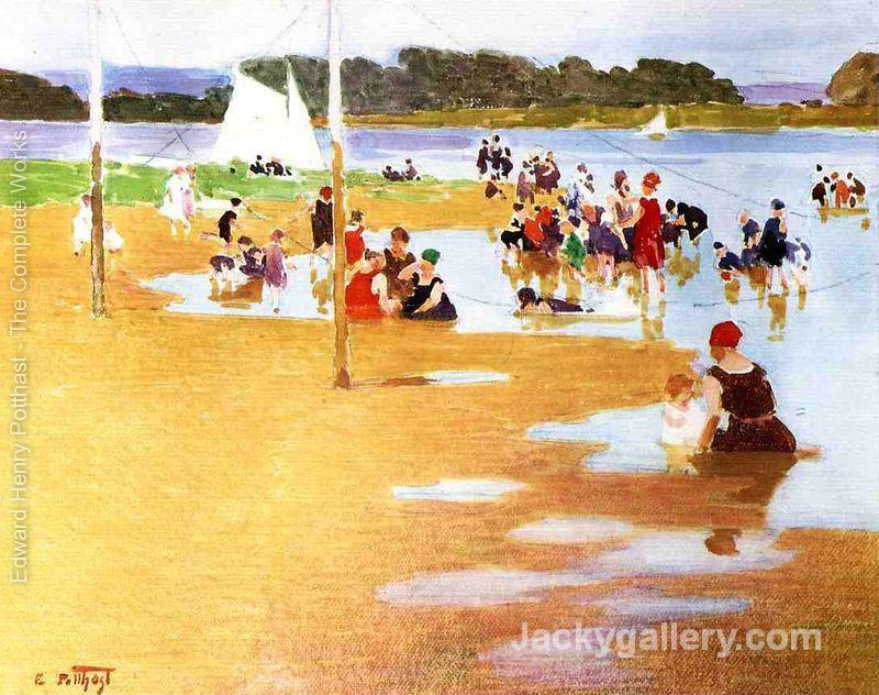 Bathers by Edward Henry Potthast paintings reproduction