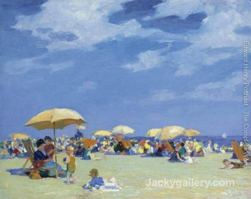 Beach At Far Rockaway by Edward Henry Potthast paintings reproduction