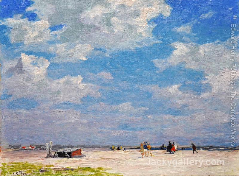 Beach Scene 3 by Edward Henry Potthast paintings reproduction