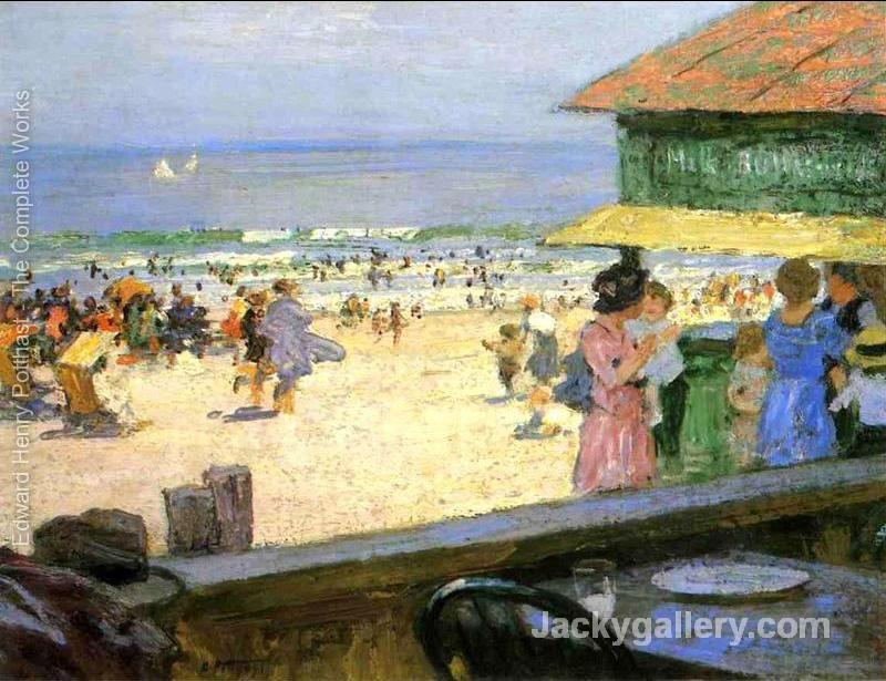 Beach Scene 5 by Edward Henry Potthast paintings reproduction