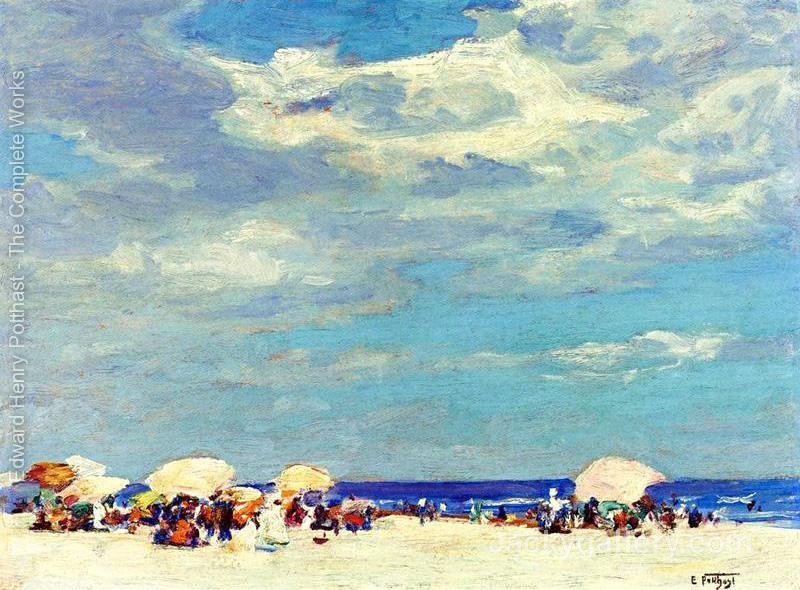 Beach Scene II by Edward Henry Potthast paintings reproduction