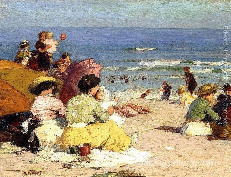 Beach Scene by Edward Henry Potthast paintings reproduction