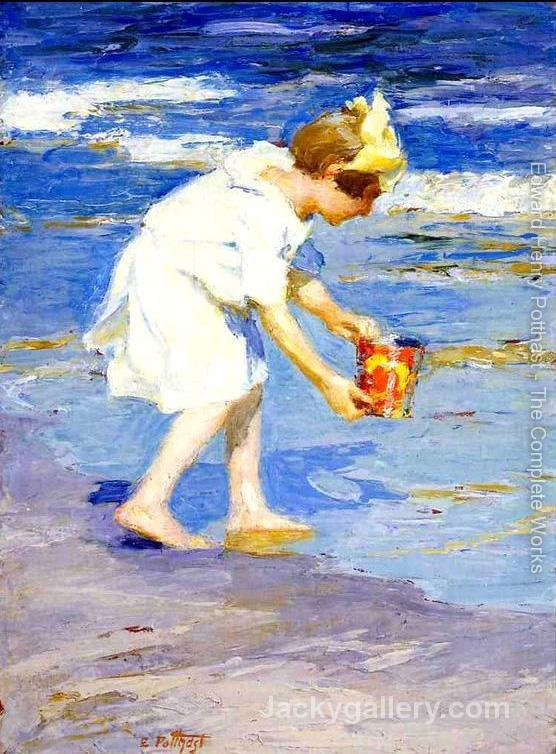 Brighton Beach by Edward Henry Potthast paintings reproduction