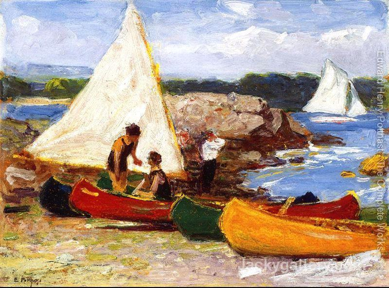 Canoeing by Edward Henry Potthast paintings reproduction
