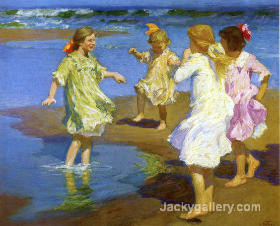 Girls at the Beach by Edward Henry Potthast paintings reproduction
