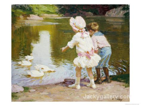 In the Park by Edward Henry Potthast paintings reproduction