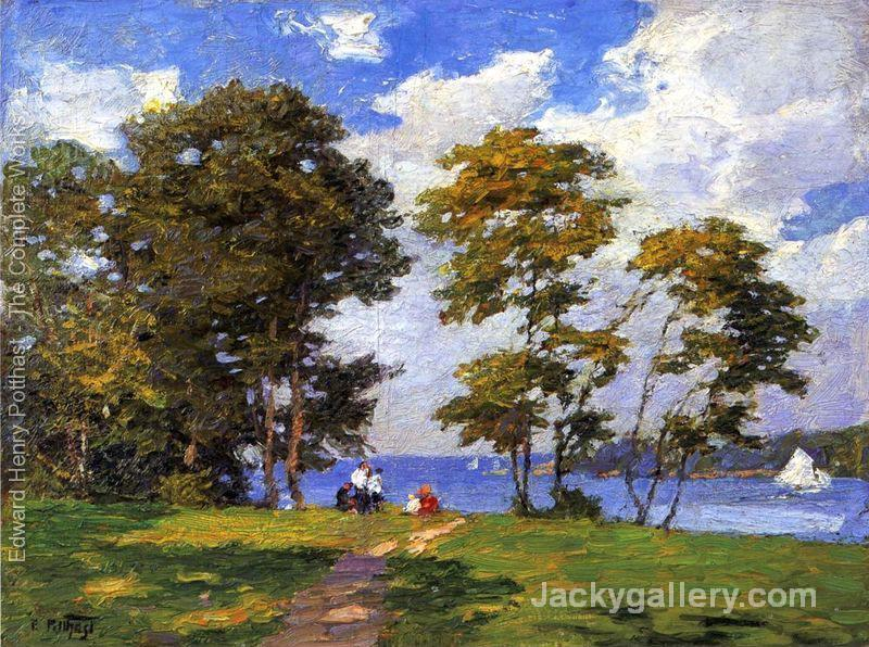 Landscape by the Shore (or The Picnic) by Edward Henry Potthast paintings reproduction