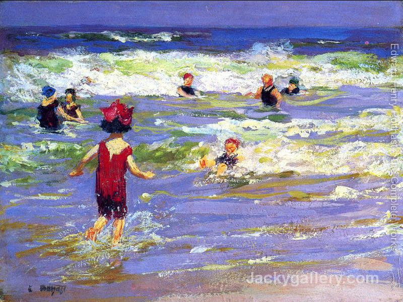 Little Sea Bather by Edward Henry Potthast paintings reproduction