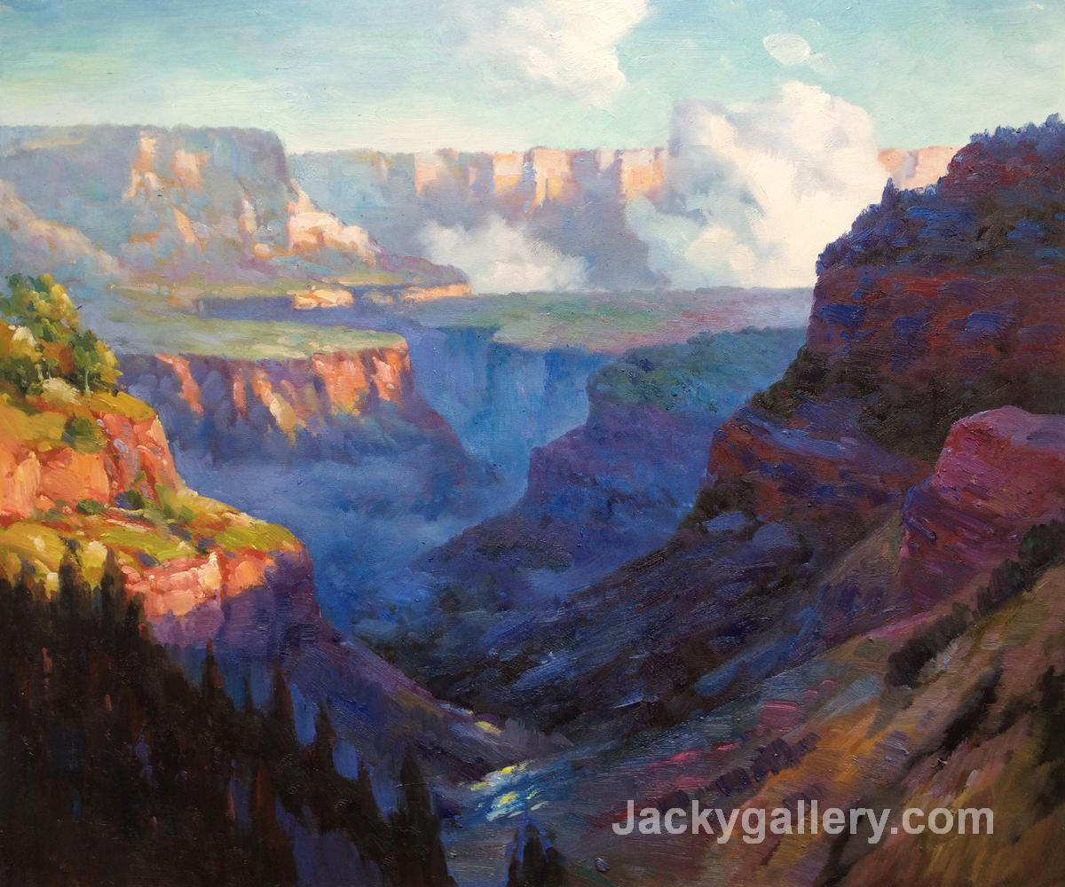 Looking Across the Grand Canyon by Edward Henry Potthast paintings reproduction