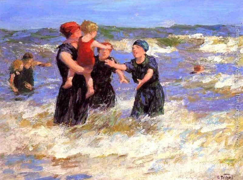 Making Friends by Edward Henry Potthast paintings reproduction