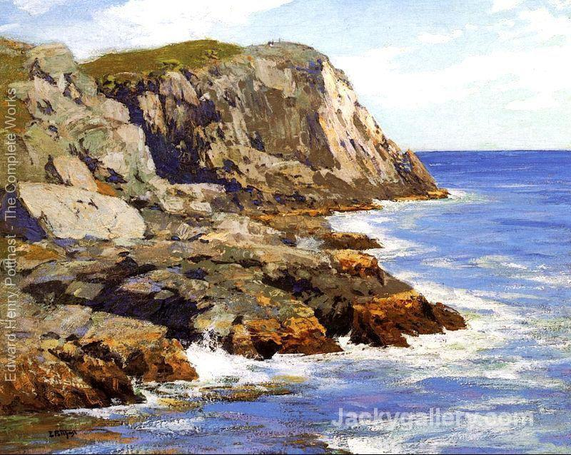 Monhegan by Edward Henry Potthast paintings reproduction