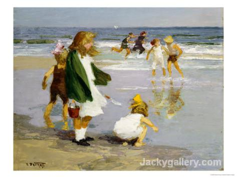 Play in the Surf by Edward Henry Potthast paintings reproduction